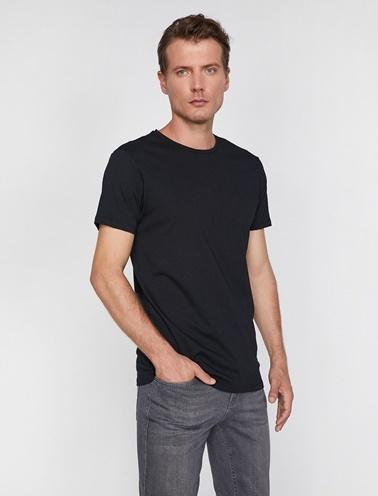 Koton Bisiklet Yaka T-Shirt Siyah